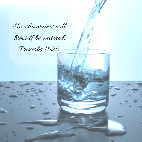 Water pic - he who waters
